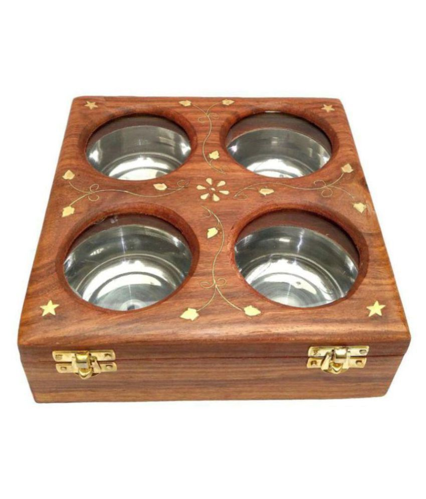 Being Creative Wooden Food Container Set of 1 250 mL