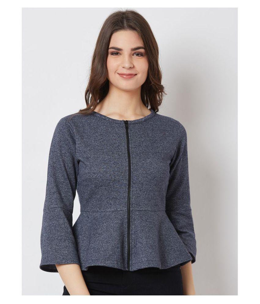 Nun Poly Cotton Grey Zippered Sweatshirt