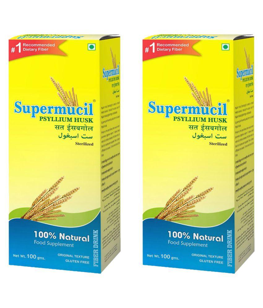 SUPERMUCIL Psyllium Husk (Sat Isabgol) Raw Herbs 100 gm Pack Of 2