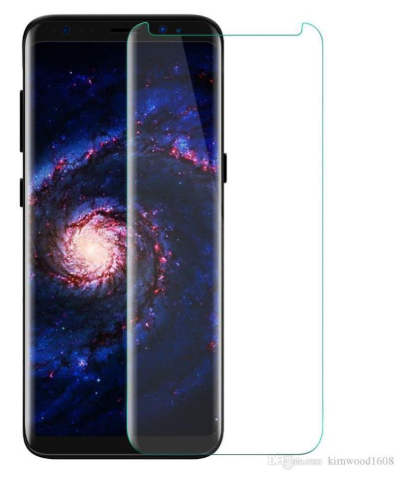 Samsung Galaxy S8 Tempered Glass Screen Guard By lenmax UV Protection, Anti Reflection