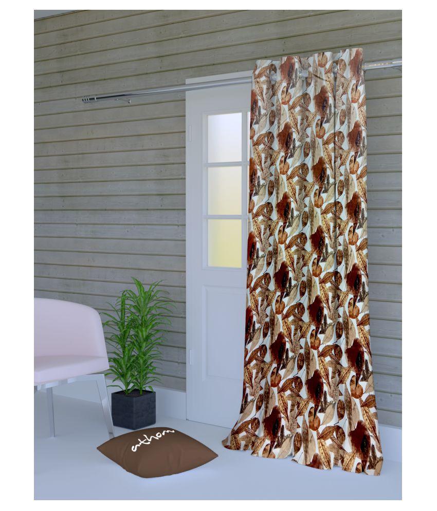Athom Trendz Single Door Semi-Transparent Eyelet Polyester Curtains Multi Color