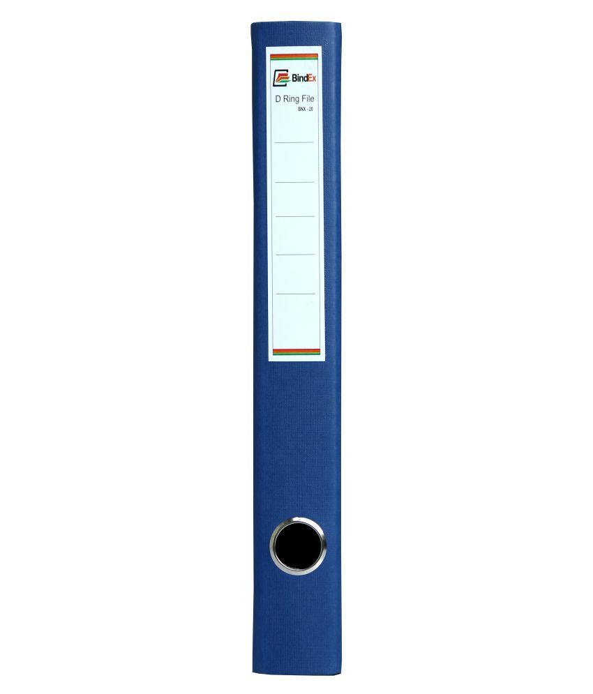 BindEx Ring Binder Box File Blue
