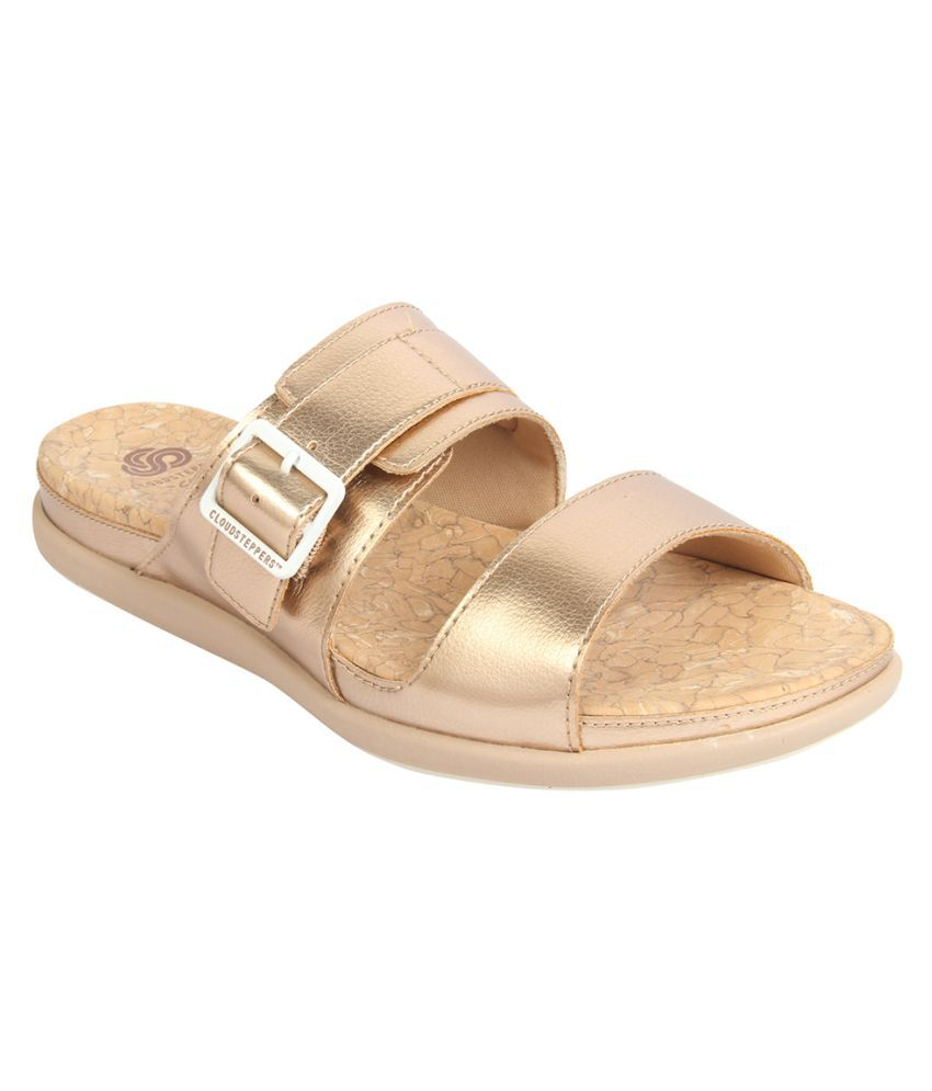 Clarks Gold Slippers
