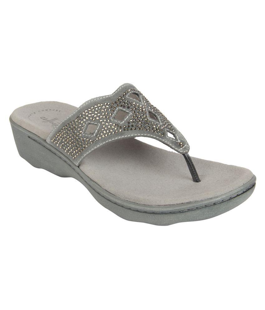 Clarks Gray Slippers