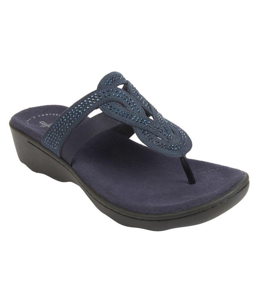 Clarks Navy Slippers
