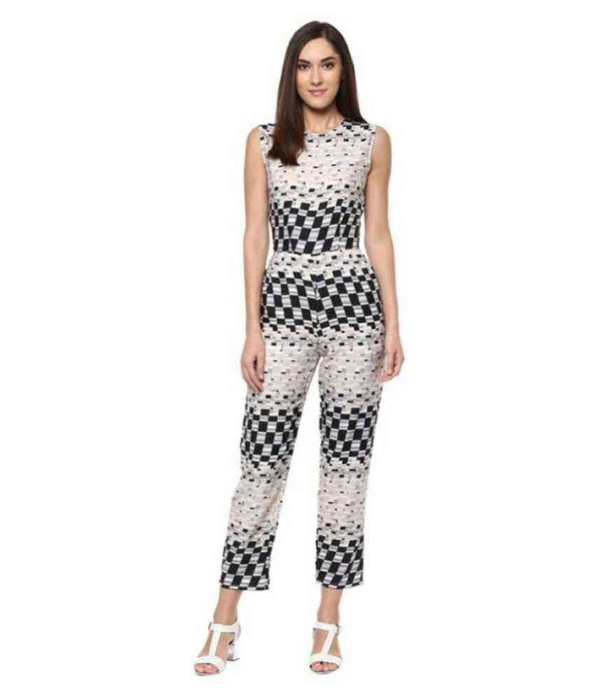 shree wow White Crepe Jumpsuit