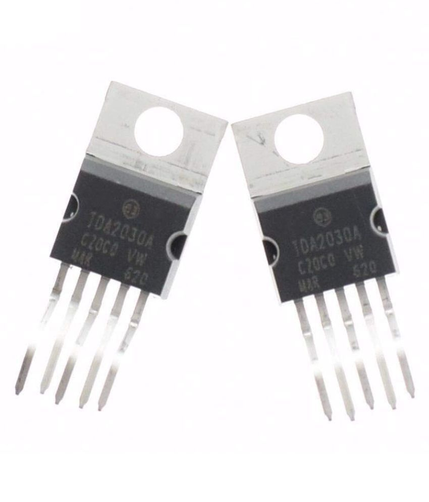 INVENTO 2pcs TDA2030 TDA2030A TO-220-5 linear 18W Hi-Fi audio amplifier/PA/short-circuit and thermal protection IC