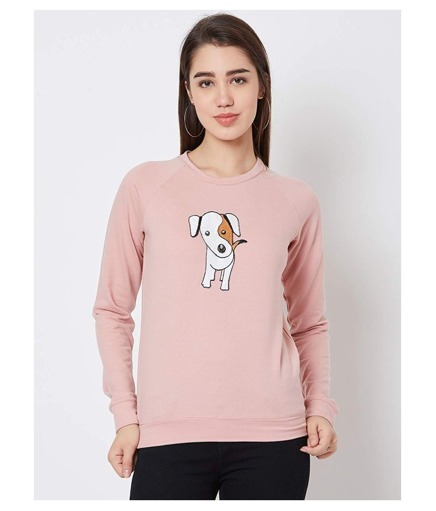 Nun Poly Cotton Pink Non Hooded Sweatshirt