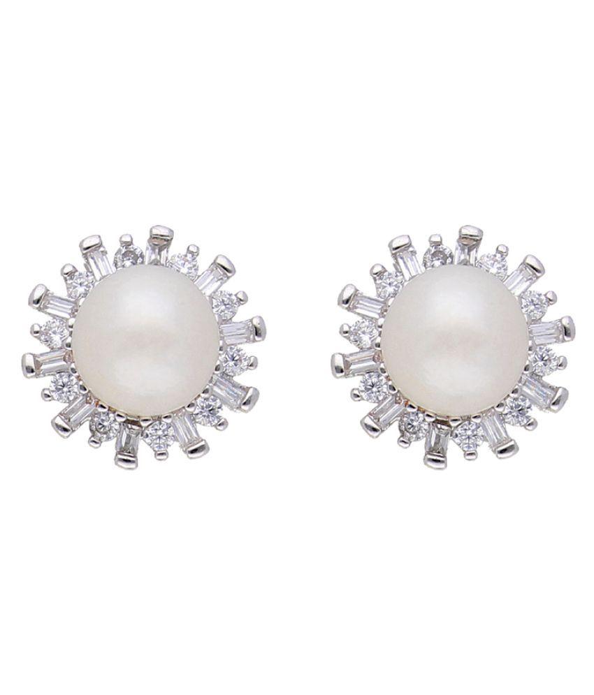 Sensational White Pearl Earrings\n