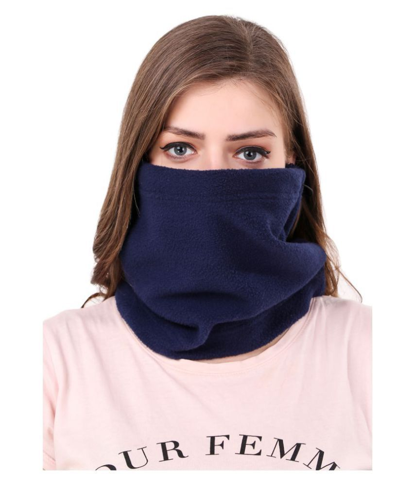 Snugg Fit 6 in 1 Thermal Polar Fleece Anti Pollution Face Mask Snood Snow Bike Outdoor Hiking Face Cover For Women