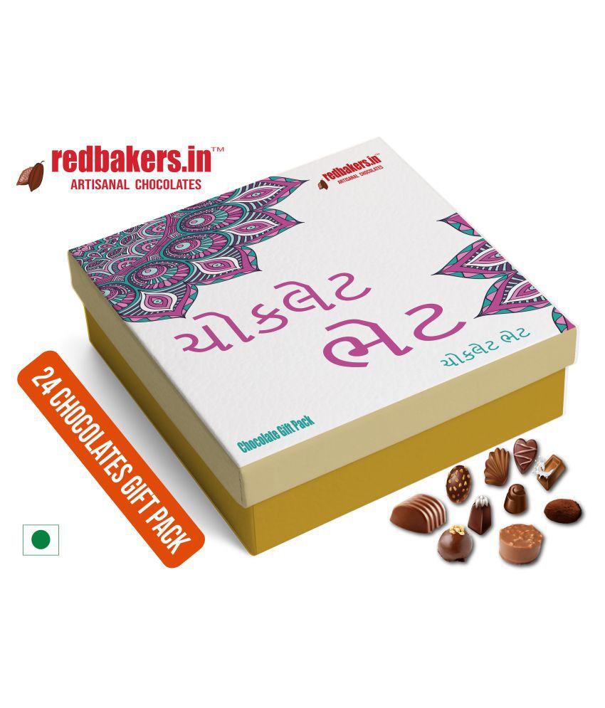 redbakers.in Chocolate Box GUJARATI 24 Chocolates Gift Pack 400 gm