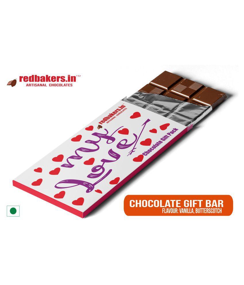 redbakers.in Chocolate Box My Love Butterscotch Chocolate Bar 100 gm
