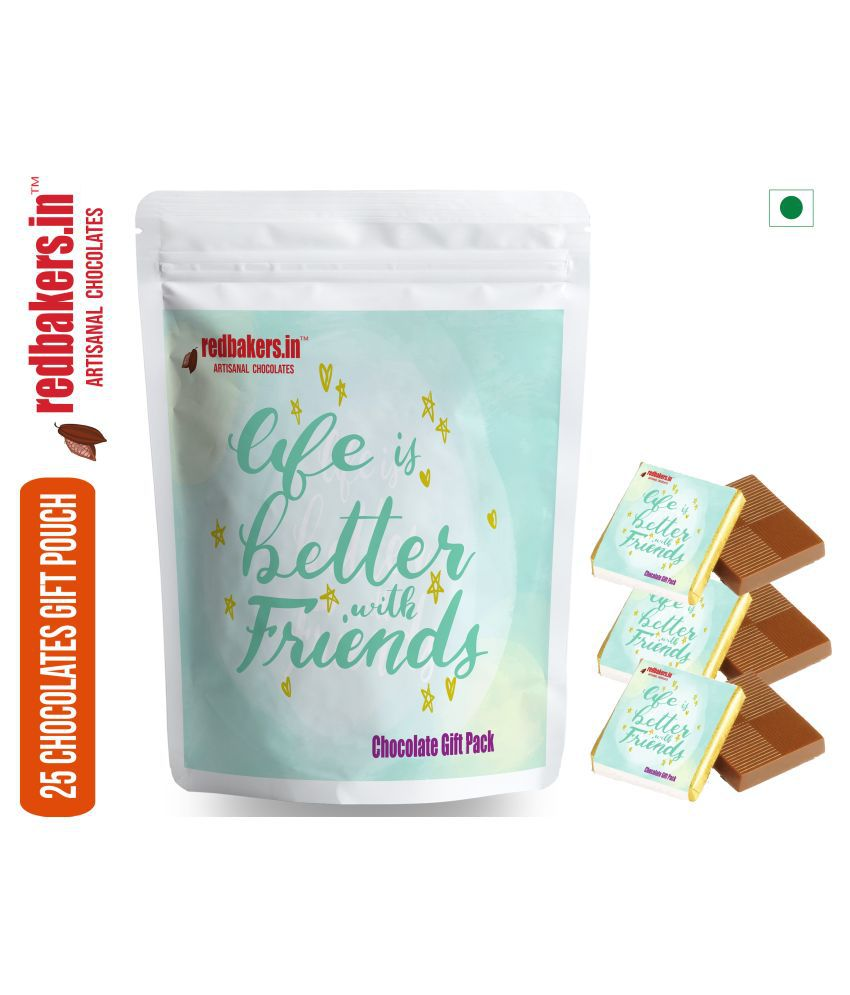 redbakers.in Chocolate Sampler Friendship  25 Chocolate Gift Pack 250 gm
