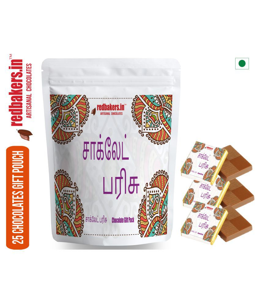 redbakers.in Chocolate Sampler Tamil 25 Chocolate Gift Pack 250 gm