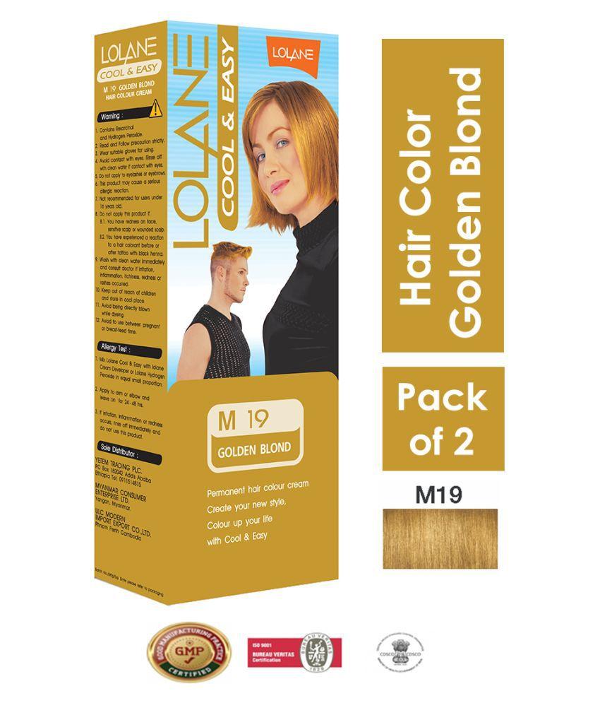 Lolane Permanent Hair Color Golden Blonde 90 g Pack of 2