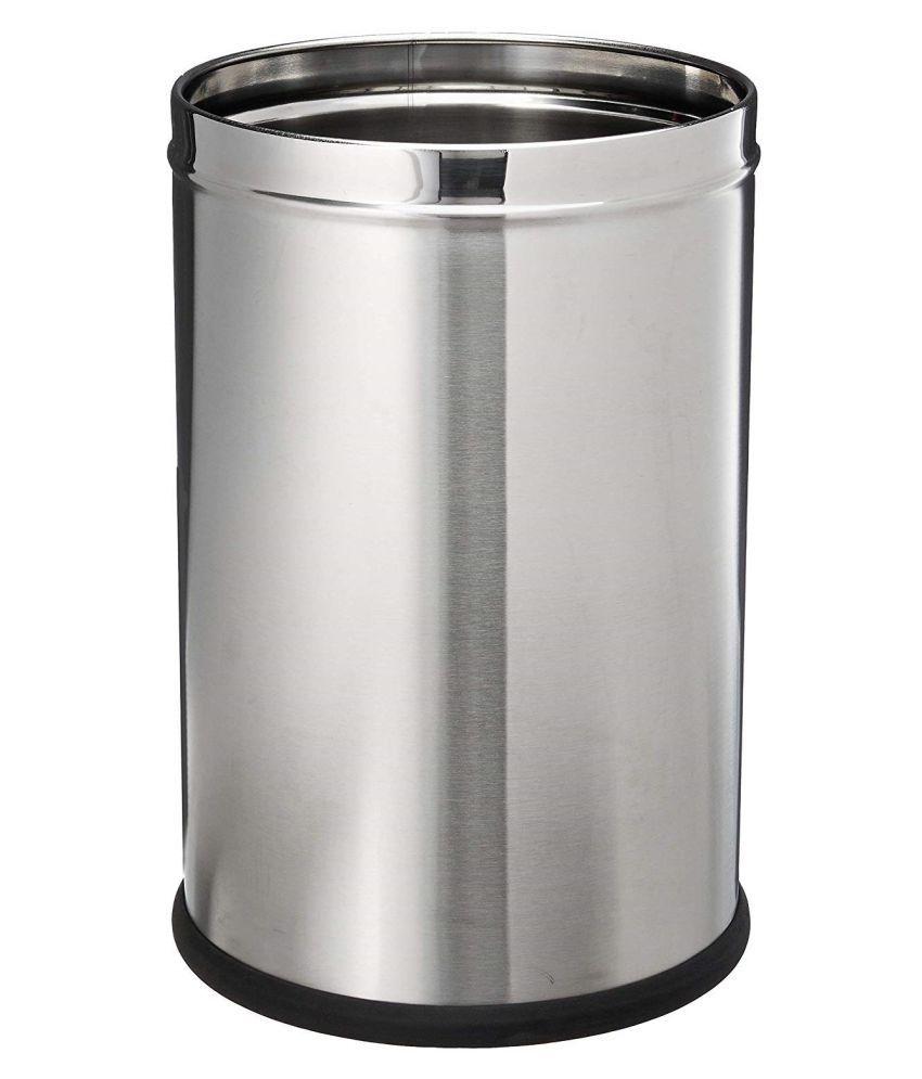 Mangwale Stainless Steel Plain Dustbin, 7