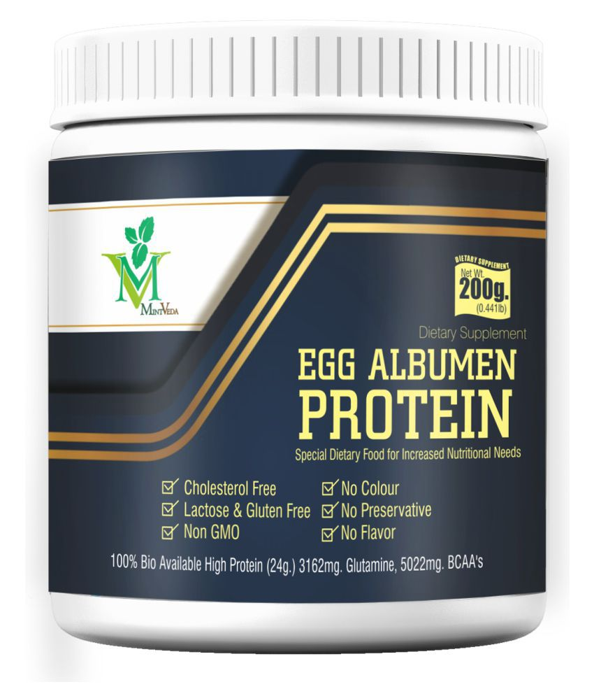 Mint Veda Egg white Albumen Protein Powder 200 gm