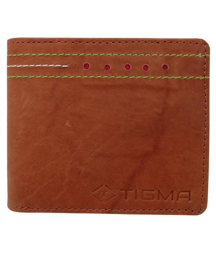 TIGMA Leather Brown Sport Regular Wallet
