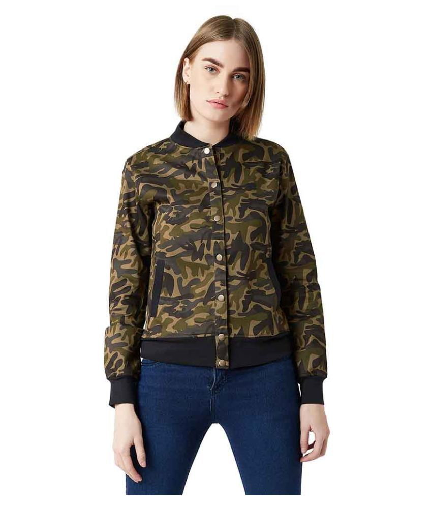 Miss Chase Cotton Green Bomber Jackets