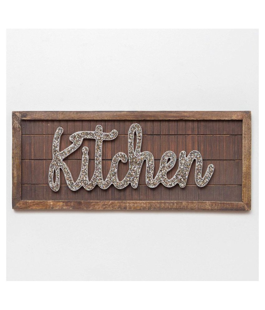 Casa Decor Wood Bedazzled Kitchen Wall Home Decor Wall Sculpture Multi - Pack of 1