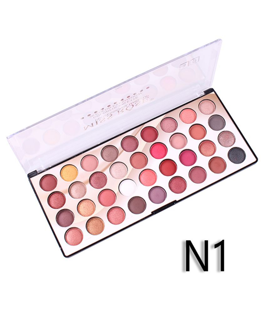Miss Rose 36 COLOR EYESHADOW PALETTE   (2 SHADES) Eye Palette Cream-to-powder Colours 10 g