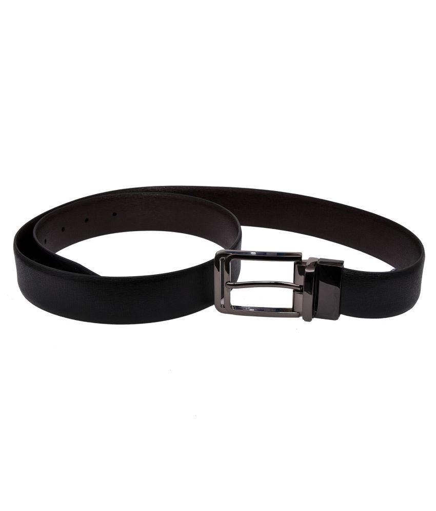 SOL Black Leather Formal Belt
