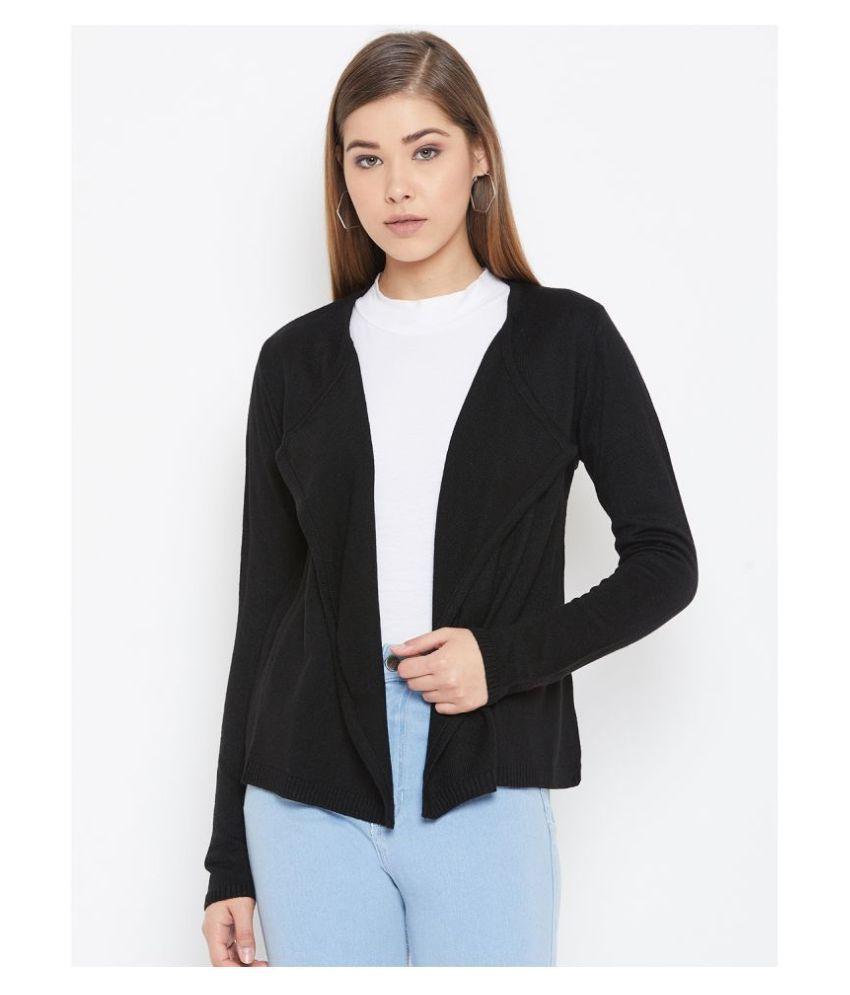Duke Woollen Black Pullovers