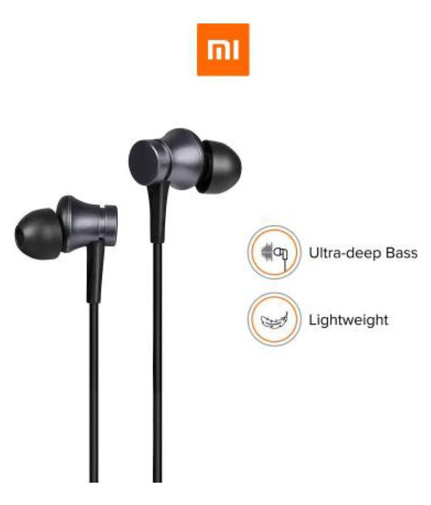 MI Basic with Ultra deep bass In Ear Wired With Mic Headphones/Earphones