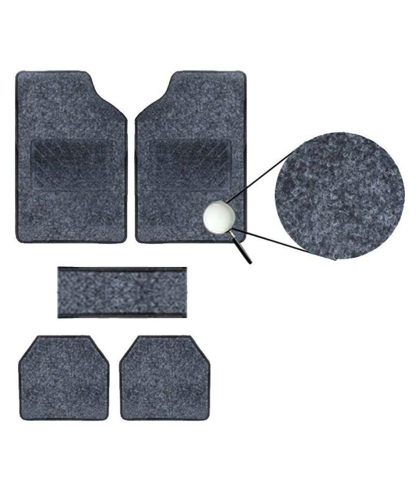 Autofetch Carpet Car Floor/Foot Mats (Set of 5) Black for Renault Duster