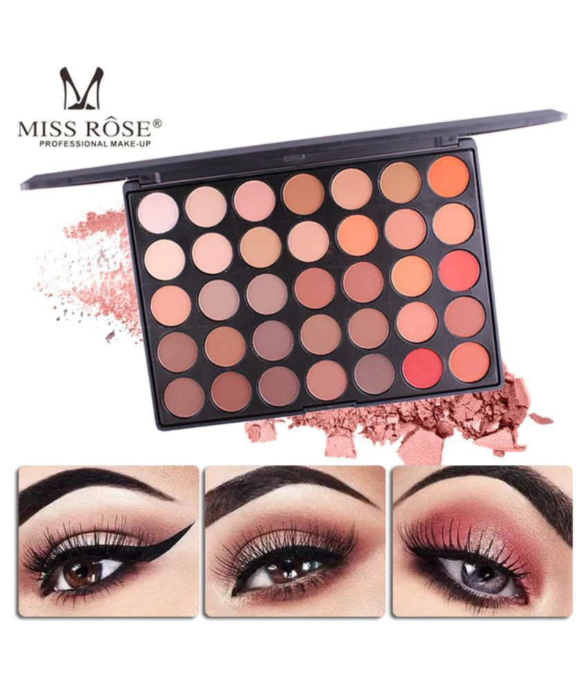 Miss Rose PROFESSIONAL EYESHADOW 35 COLOR PALETTE (7 SHADES Eye Palette Cream-to-powder Colours 500 g