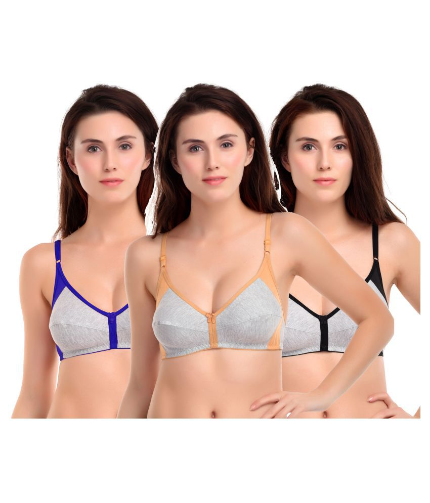 LUXURA ESSENTIALS Cotton Teenage Bra - Multi Color