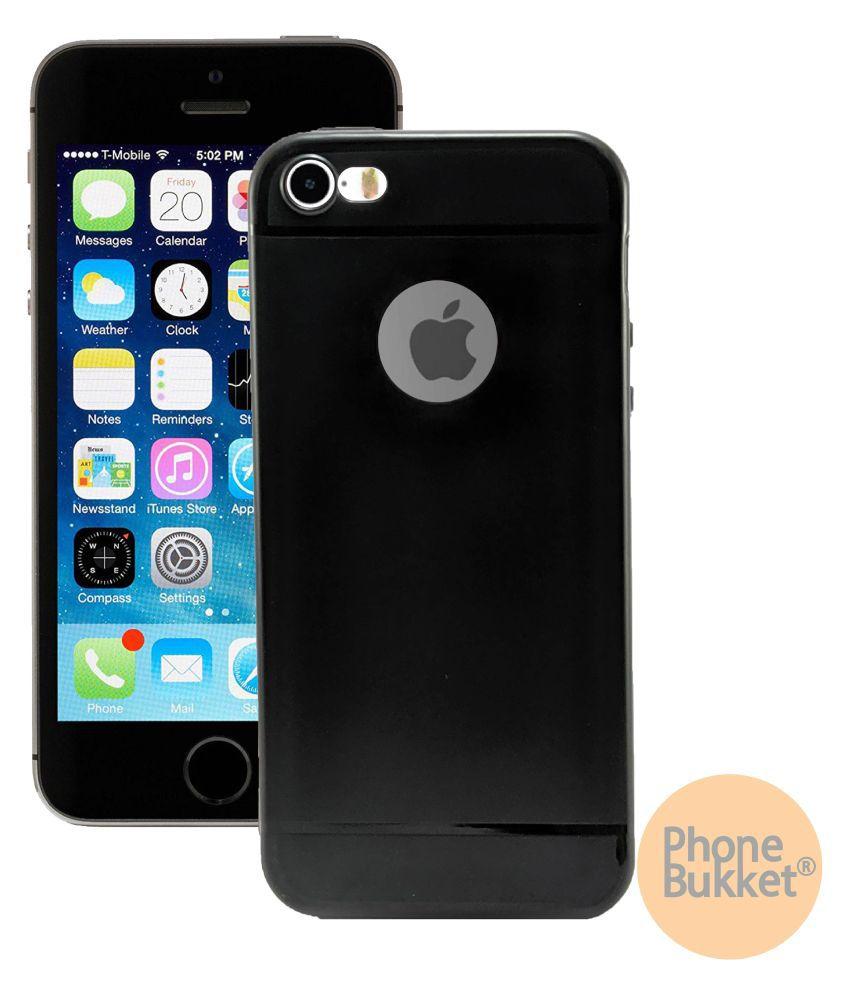 PhoneBukket Soft TPU Black Back Case for Apple iPhone 5s
