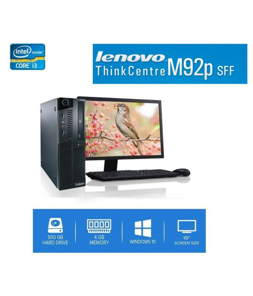 Lenovo M92 i3 2nd Gen  SET  Mini PC   Intel Core M 4  GB 500  GB Windows 10   BLACK