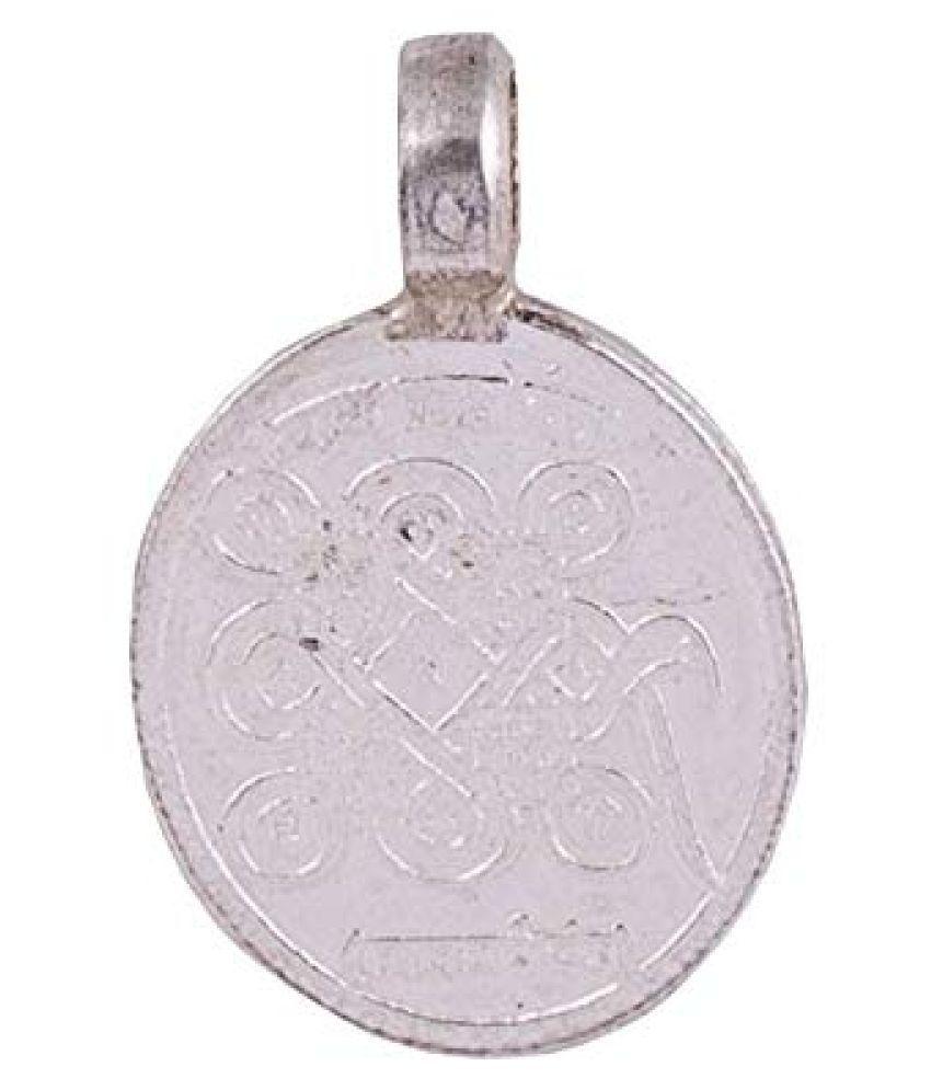 PANDIT NM SHRIMALI Kalsarp Yantra Pendant Energised Nagpash Yantra Locket for Kaal Sarp Dosh Nivaran, Silver 2.5-3 gm