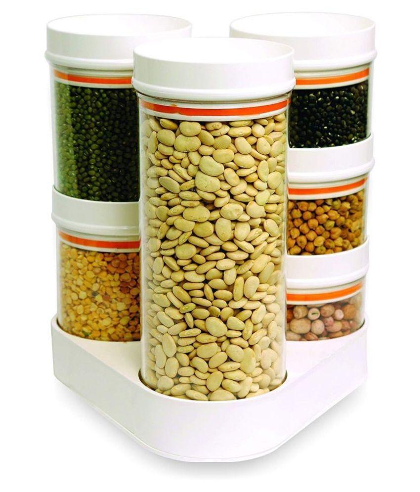 masvi enterpris Crystal  Polyproplene Food Container Set of 6 250 mL