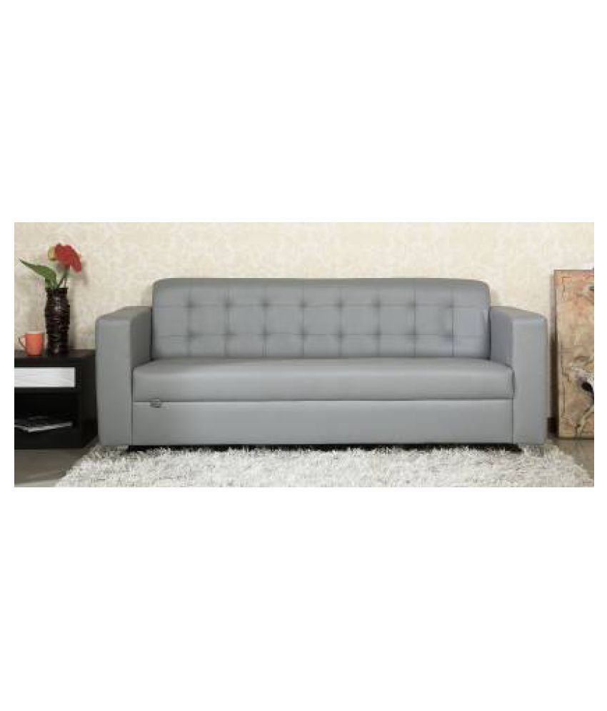 Lio Compact 3 Seater Sofa In Grey Color By Parin