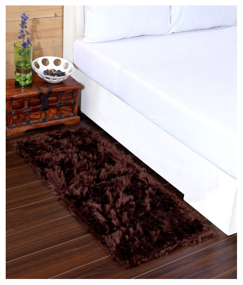 Beautiful Homes Brown Runner Single Polyester Floral 2x5 Ft