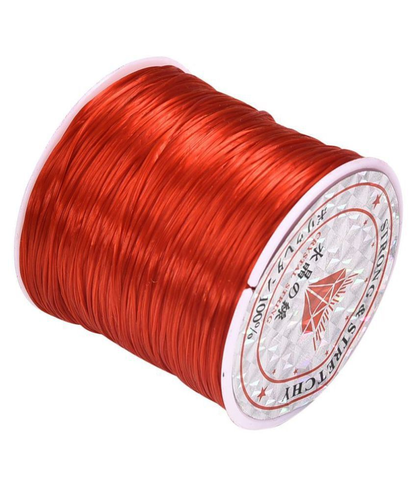 0.8mm Red Elastic Cord Thread for Jewelry and Bracelet Making