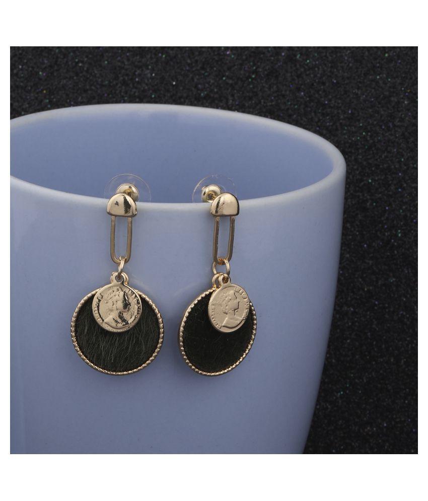 SILVER SHINE Gold Plated Stylish Designer Dangle Earring For Women Girl