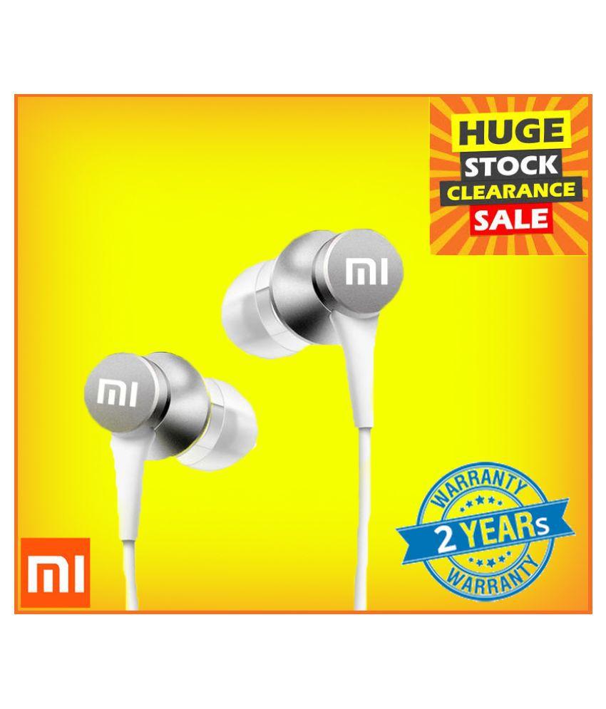 Mi Wired Earphone White Headphone With Mic  Mi Headset