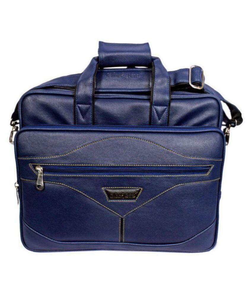 Black Bird Blue Synthetic Office Bag
