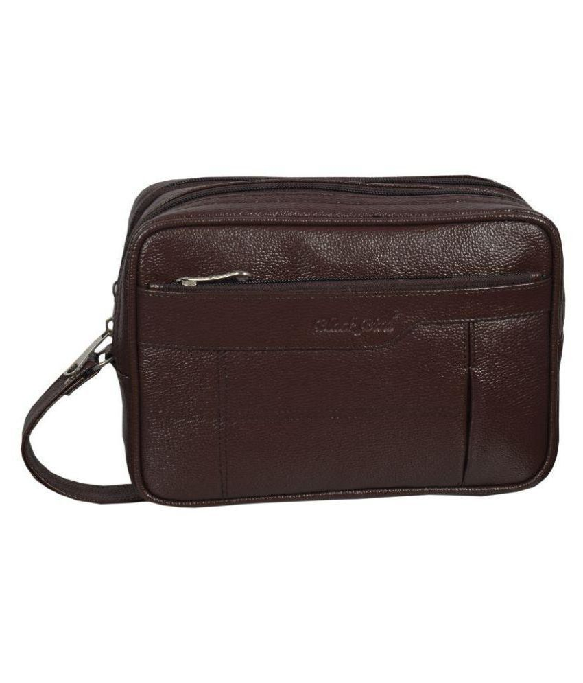 Black Bird Brown Synthetic Casual Messenger Bag