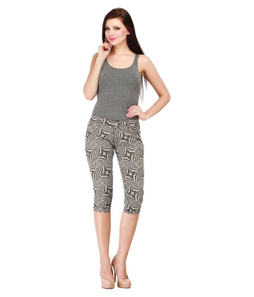 Cali Republic Denim Lycra Jeans - White