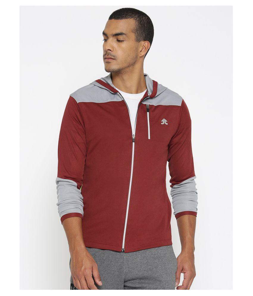 OFF LIMITS Maroon Polyester Fleece Jacket