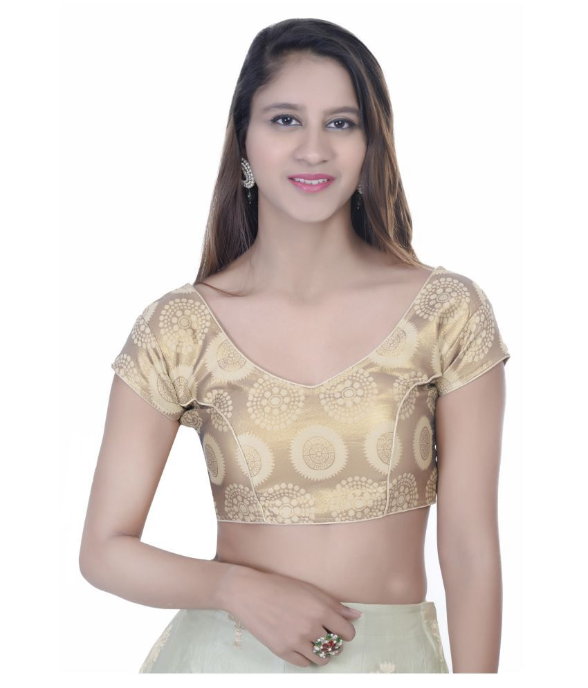 Fadrin Gold Silk Readymade with Pad Blouse