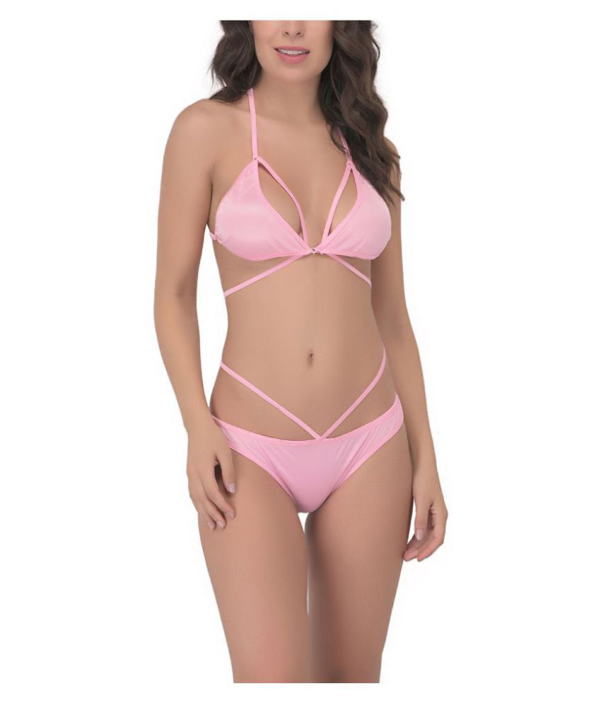 You Forever Satin Bra and Panty Set