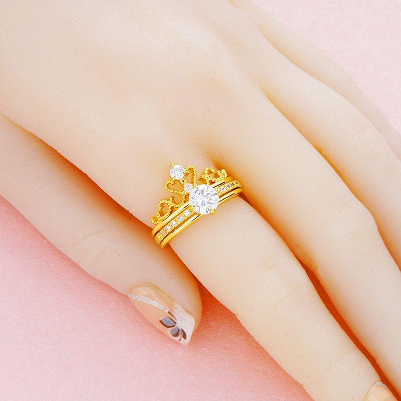 Crown Two-In-One Ring Fashion Jewellery