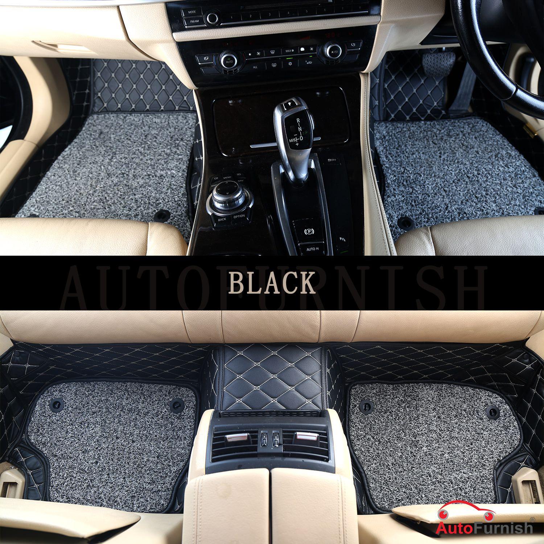 Autofurnish 7D Luxury Car Mats For BMW 3GT - Black - Set of 3 Mats