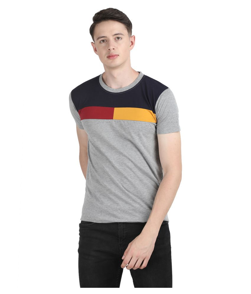 Ample Grey Half Sleeve T-Shirt