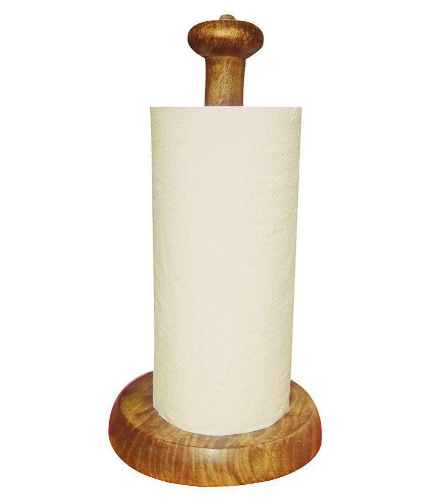 Xllent Wood Foil Tissue Paper Holder